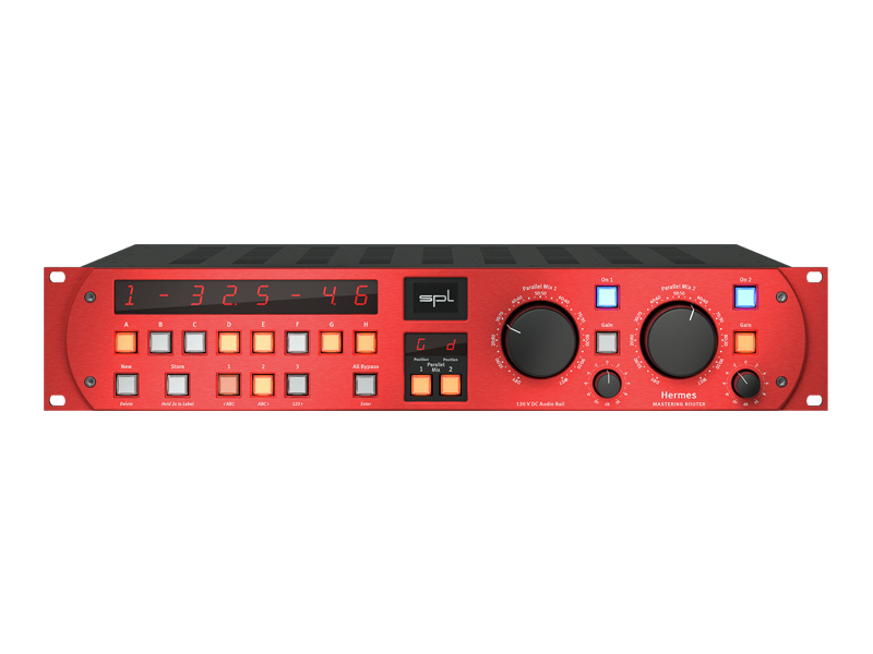 SPL Hermes - Mastering Router - red | Analog Summing Mixers - 1
