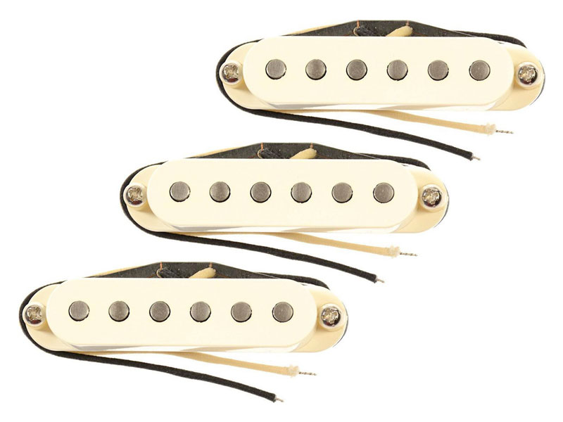 Bare Knuckle PAT Pend 63 Veneer Board single coil set Parchment White | Strats - 1